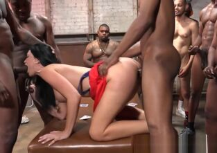 Mature gang bang